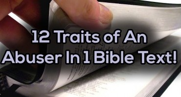 12 Traits of Abusers From 1 Bible Text 2